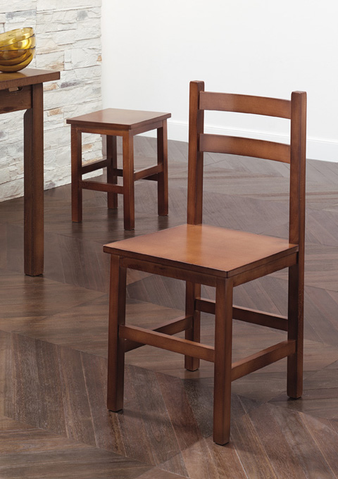 Chair and low stool model 40