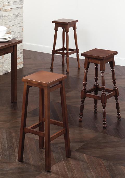 High stools 40, 108, 128