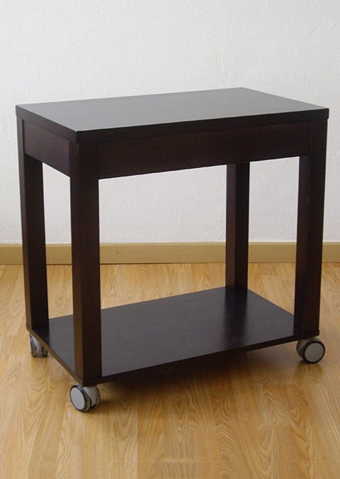 Side rasa table 75×45 with shelf and wheels
