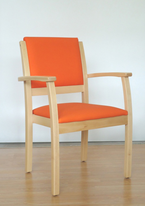 Stackable armchair model 61